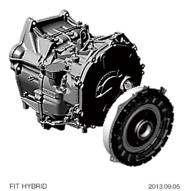 画像: フィットハイブリッドに採用されたi-DCD(DCT)。