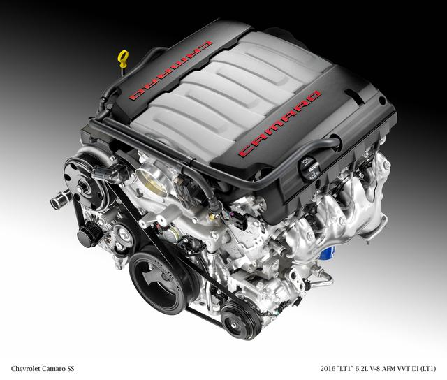 画像: 6.2L V8エンジン。