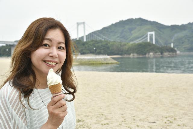 画像: 伯方の塩ソフトクリームは、隠し味のお塩がきいてメチャクチャ美味しい!