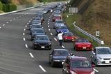 画像: 高速周回路での参加車両によるパレード