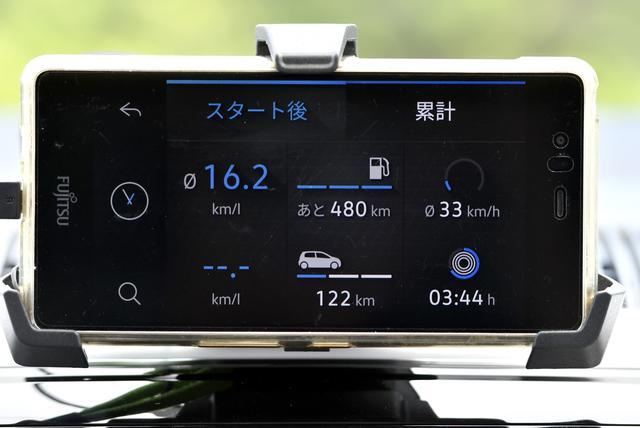 画像: 専用アプリを使って車両の走行データをスマホに表示することも可能。