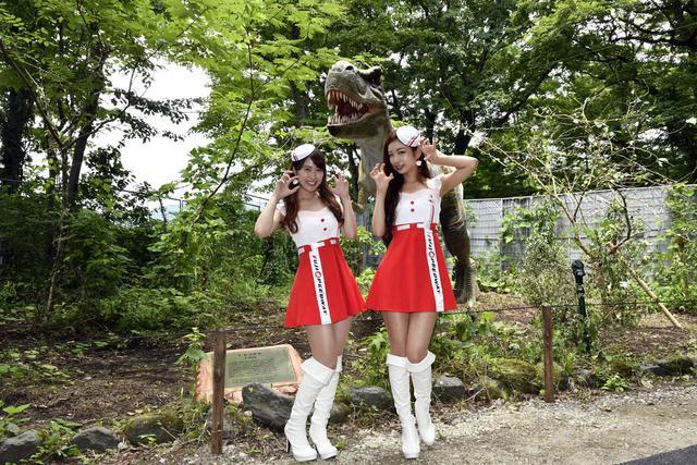 画像: 目玉はティラノサウルスとの記念撮影、運がよければバックに富士山が見える