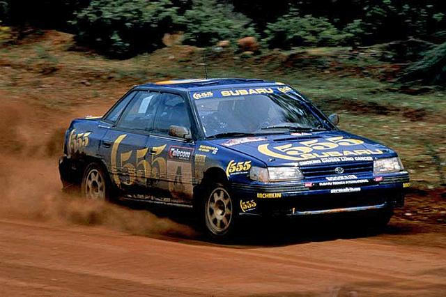 画像: 1993年式 スバル・レガシィ RS。1993年の世界ラリー選手権 第8戦「ラリー・ニュージーランド」優勝車。レガシィの初優勝を飾った1台だ。