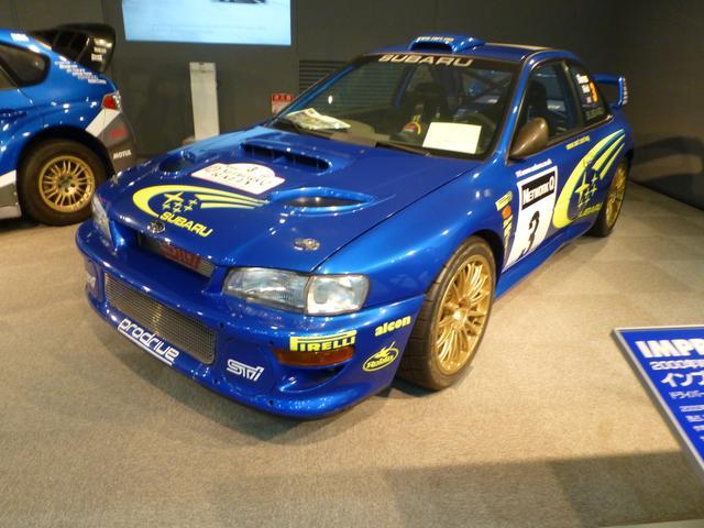 画像: WRCで活躍していた、懐かしのラリーカーも展示されている。