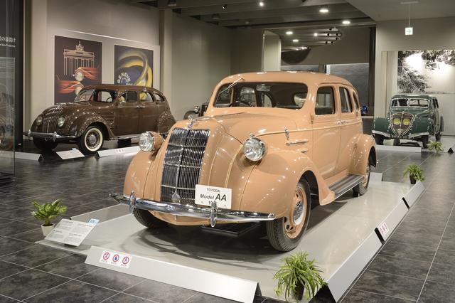 画像: 最初のトヨタ車「トヨダAA型(実車は残っていないのでレプリカ)」をはじめ、クラシックモデルも数多く展示。