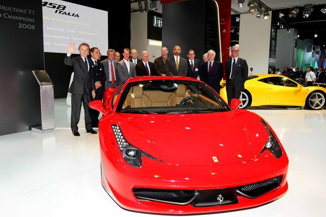 画像: フェラーリ 458 Italia は、2009年9月のフランクフルトモーターショーで発表された。
