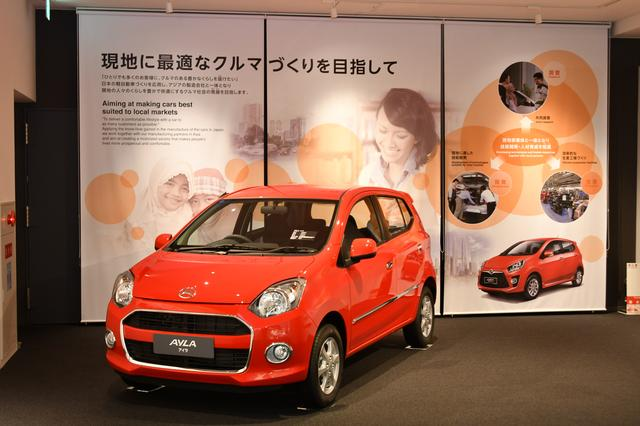 画像: 日本では販売されていない、インドネシアで生産されている「アイラ」なんてクルマも見ることができる。