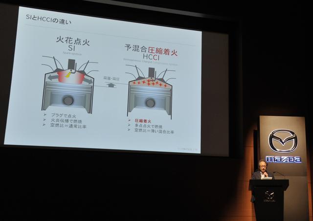 画像: HCCIは多点点火で燃焼し、燃料が薄い混合比率でも燃える。