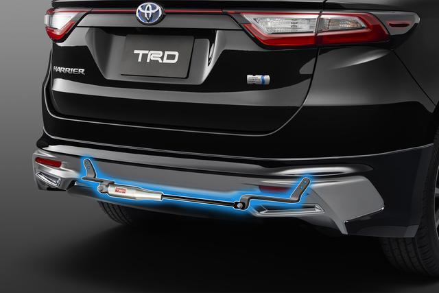 画像: モーションコントロールビーム(MCB):リアバンパー内部に装着することで、走行中に発生する微振動や車両のわずかな変形を吸収・減衰。車両の左右をつなぐことでボディ剛性も向上し、車両操作に対する応答性を向上させてくれる。