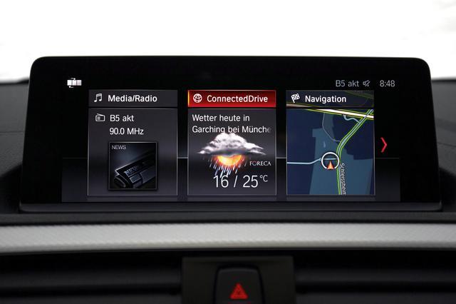 画像: BMWコネクテッドドライブはユーザーインターフェイスを一新。リアルタイム交通情報や電子メールにも対応する。