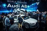 画像: アウディサミットでワールドプレミアされた新型A8は注目度も高く瞬く間にクルマに乗り込む順番待ちの列ができるほどの人気ぶりであった。