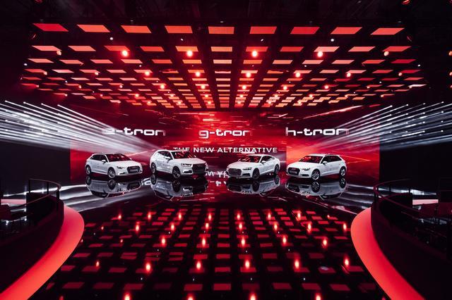 画像: 電動化にも力を入れているアウディ。電気自動車、プラグインハイブリッド、燃料電池車、天然ガス車などが一堂に会した。
