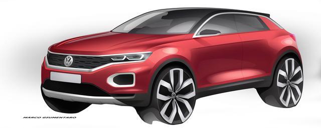 画像: 公開されたイメージイラスト。マッシブなデザインは、フォルクスワーゲン車随一の力強さを感じさせる。