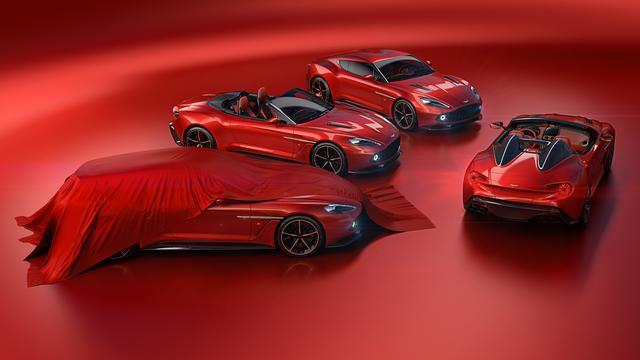 画像: ヴァンキッシュ ザガートの4モデル。合わせて世界限定325台だ。