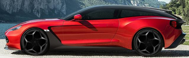 画像: ヴァンキッシュ ザガート シューティングブレーク。まだ完成車はない。これはCGイラストだ。