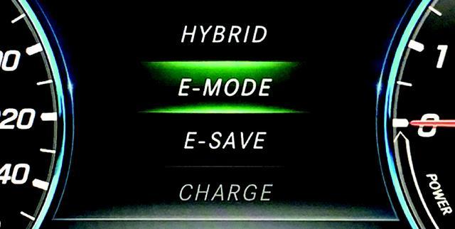 画像: 「E-MODE」での航続可能距離は20.1km。