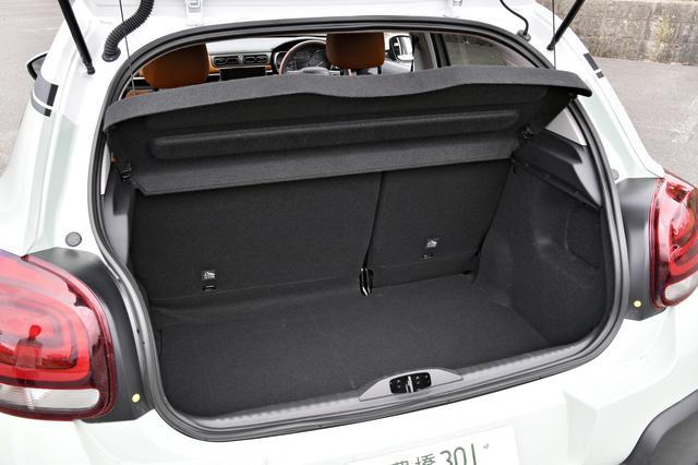 画像: この状態で、荷室容量は300L。深さ/奥行きともに合格点。