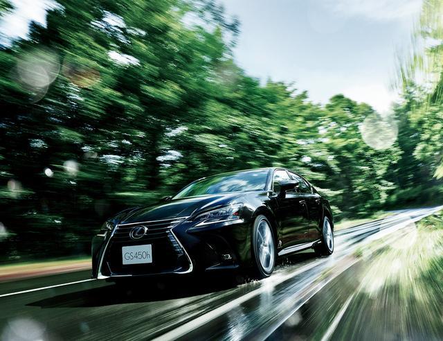 """画像: GS450h """"version L""""(グラファイトブラックガラスフレーク)<オプション装着車>"""