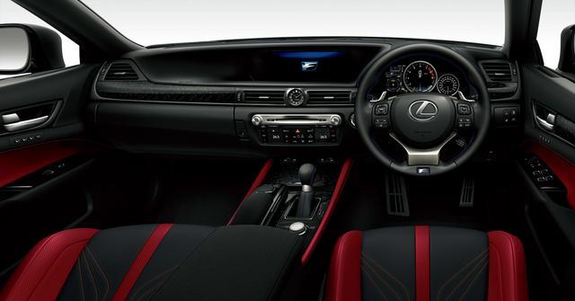 画像: GS F(インテリアカラー :ブラック&アクセントフレアレッド)<オプション装着車>