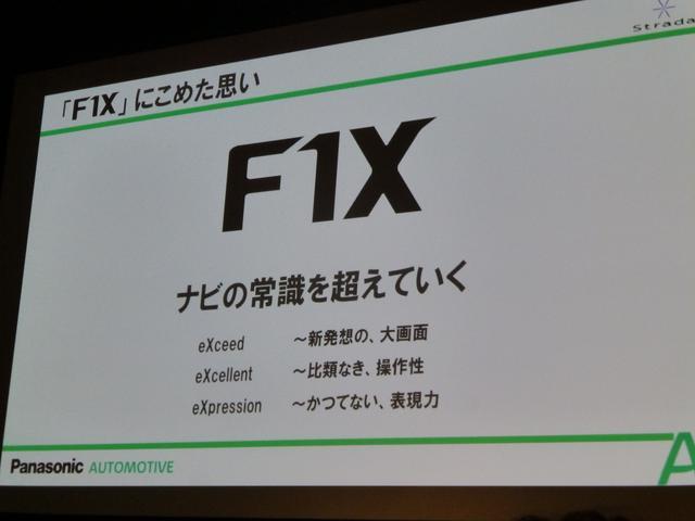 画像: 愛称「F1X」の名前の由来。