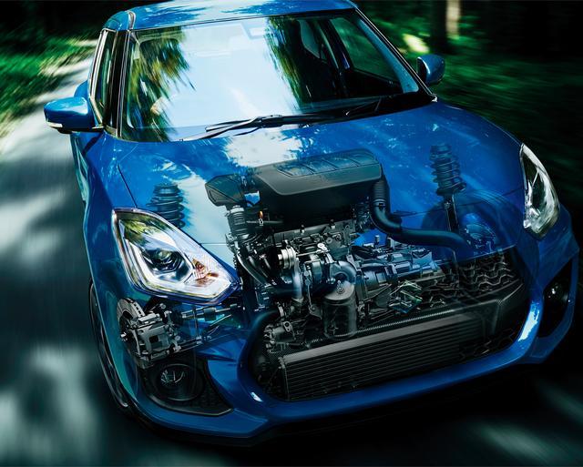 画像: 1371ccのK14C型ブースタージェット エンジン。JC08モード燃費は6速MTで16.4km/L、6速ATで16.2km/L。