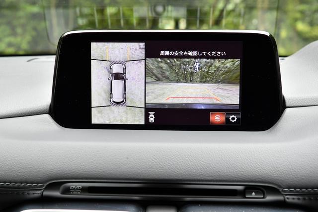 画像: 360°モニターの画面。大柄なクルマだけに、この装備は心強い。