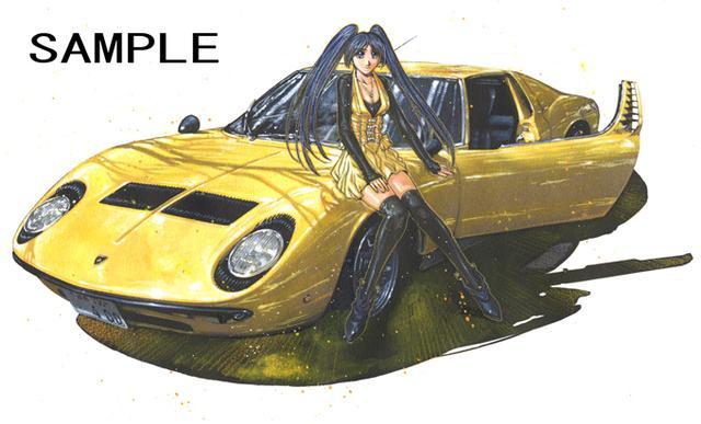 画像: ランボルギーニ・ミウラP400と桃瀬ユリ。ミウラは元祖スーパーカーとしてあまりにも有名なクルマです。(ⓒSTUDIO TRON)