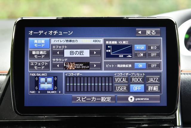 画像: ハイレゾ音源再生にも対応。また「音の匠」は音のプロがチューニングしたもので、それぞれの環境に合わせて快適な音響空間を実現する。