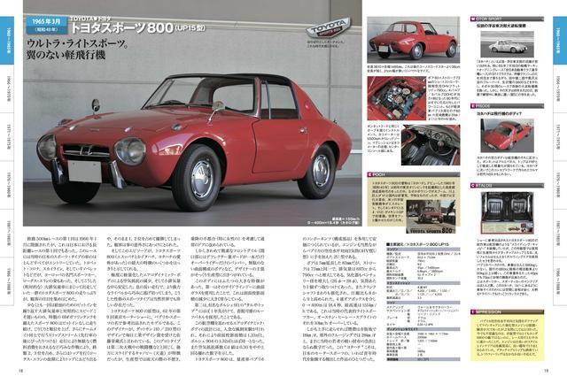 画像: 「国産名車 昭和を駆け抜けた日本のスポーツカー」のトヨタスポーツ 800のページ。