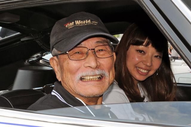 画像: スピード記録会に挑戦したドライバー、津々見友彦氏もイベントに登場。