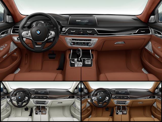 画像: 750Li Individual Editionは3つのボディカラーによって、内装色組み合わされる。
