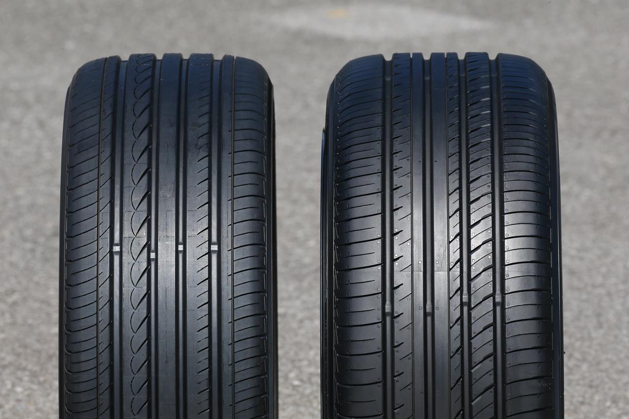 画像: 左が従来アドバンdB、右が新アドバンdB V552。