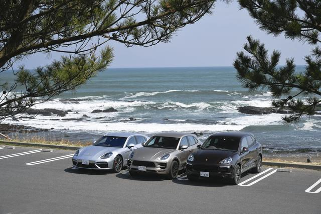 画像: 左からポルシェ パナメーラ、マカン、カイエン。好調な販売を牽引する3モデルだ。