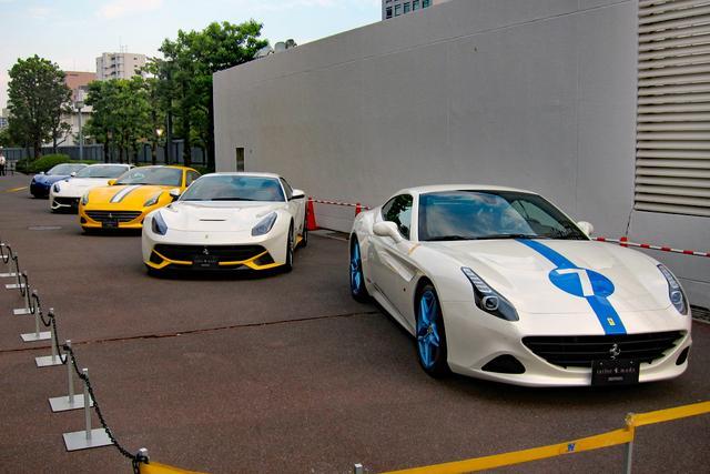 画像: 70周年記念 限定テーラーメイド車両も5台展示。ここのフェラーリだけは赤くなかった…。