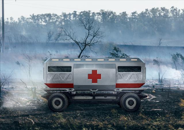 画像: 悪路走破性の高さを活かし、医療用の車両として活躍することも期待される。