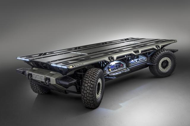"""画像: GMが開発しているトラック用の燃料電池車プラットフォーム""""SURUS""""。"""