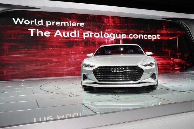 画像: A7スポーツバックのスタディモデルとなった「prologue」。細いヘッドライトやシングルフレームグリルなどはよく似ている。