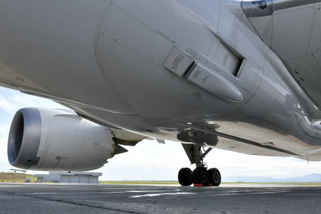 画像: 中央翼周辺を近くから見る。残念ながら?どこにもSUBARUのロゴは入っていない…。