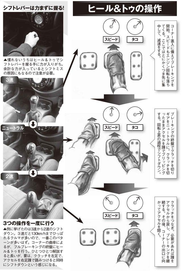 画像: MT乗りには欠かせない、減速とシフトの連携操作