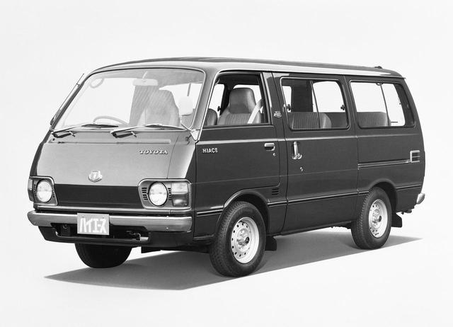 画像: 2代目ハイエース ワゴン。1977〜1985年。