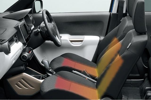 画像: イグニス Sセレクションは、前の2座にシートヒーターを装備する。