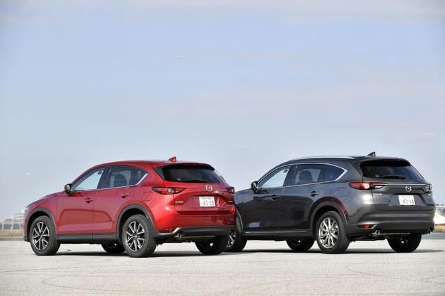 画像2: 左の赤い車両が CX-5 XD L Package、右のグレーの車両がCX-8 XD L Package。