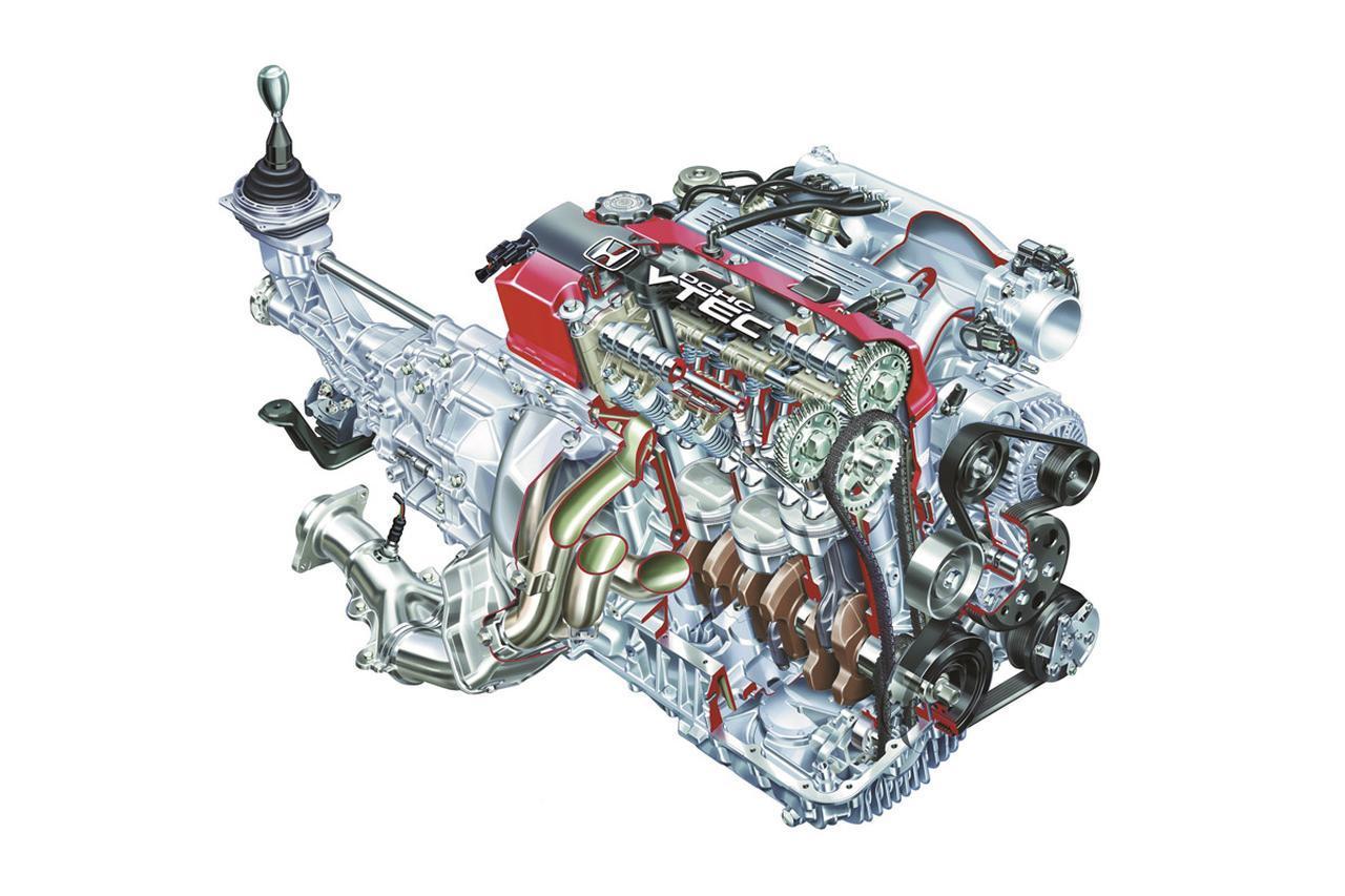 画像: リッター100psを優に超えてみせたF20C型 DOHC VTECエンジンが初期のS2000に搭載された。最高回転数は9000rpmで、まさにバイク感覚だった。