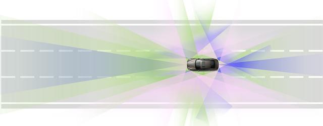 画像: 39個もの車載センサーにより、車両の周囲360°の情報や自社の正確な位置を把握する。