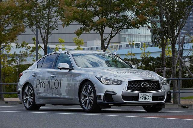 画像: 自動運転実験車両はインフィニティQ50ベースだ。