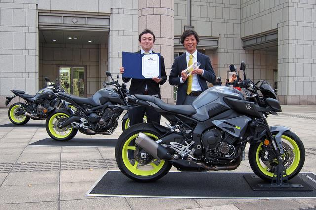 画像: コンセプトを担当した安田氏(右)とデザインを担当した片平氏(左)。