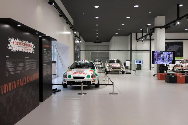 画像: 1階のモータースポーツヘリテージスペースでは現在WRC特集をやっている。