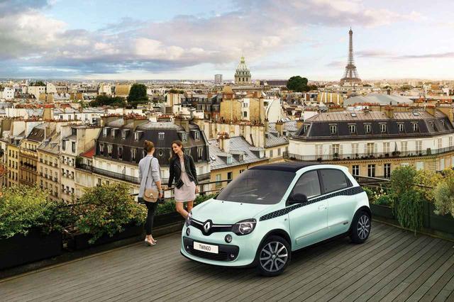画像: トゥインゴ ラ・パリジェンヌは合計250台の限定モデル。パリでは常識に囚われてはいけないんですね。