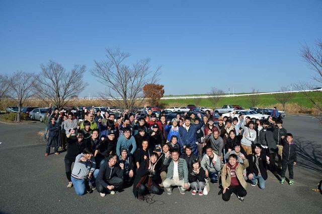 画像: ざっと80台&100人もの数が集まったミーティング。若いオーナーの姿が多い。