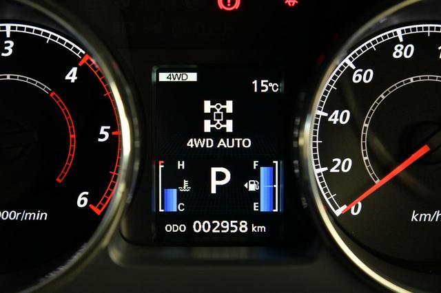 画像: 4WDオートモード。路面状況や走行条件に応じて前後輪への駆動力を適切に配分。ウエット路や横風の強い高速道路の走行などで安定した走りが得られる。